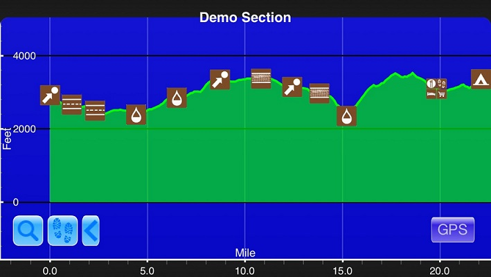 levation chart courtesy of Guthook's PCT Hiker app. He has apps for all the major trails.