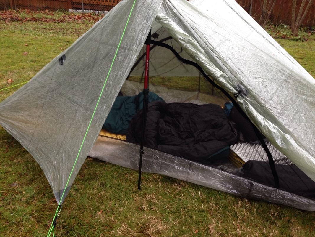 Side of tent