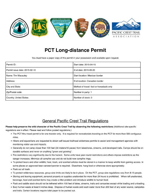 PCT-permit