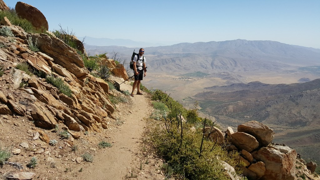 Day 4 - Mike high above the desert basin