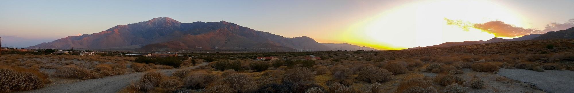 Jacinto sunset panorama