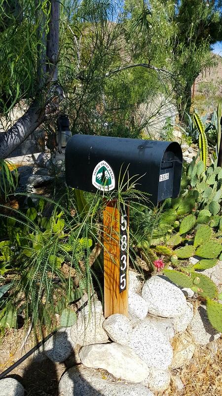 Mailbox at base of San Jacinto