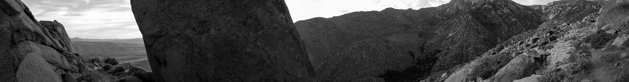 Panorama descent San Jacinto
