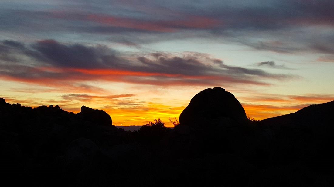 Sunrise near base of San Jacinto