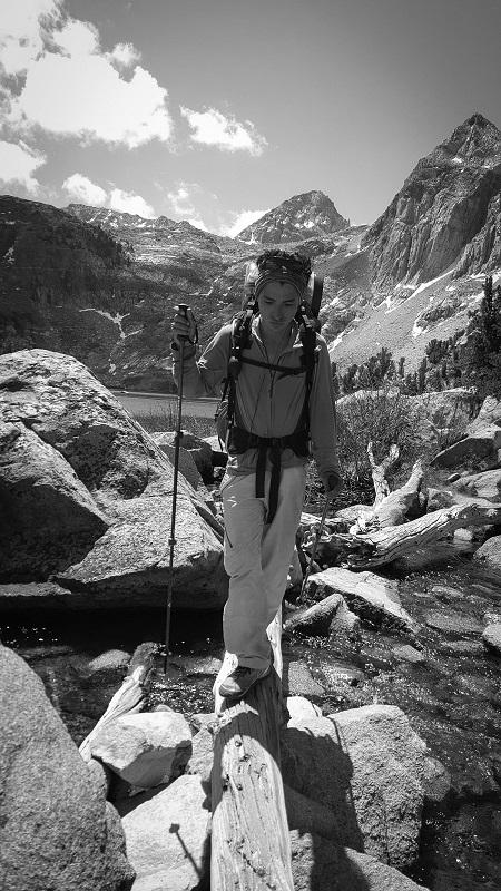 Sierra Crossing Log #3 - B&W