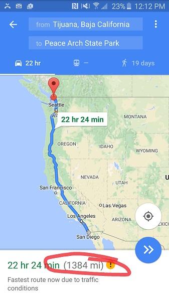 I-5 Mexico to Canada